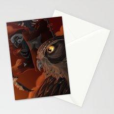 solar owls mars  Stationery Cards