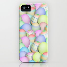 Pastel Colored Easter Eggs iPhone Case