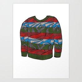 Season 3, Episode 13 (full sweater) Art Print