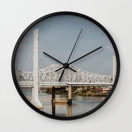 Louisville Bridges on the Ohio River Wall Clock