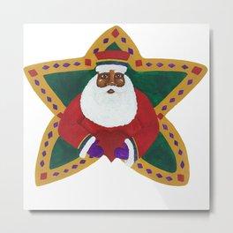 African American Santa Claus Metal Print