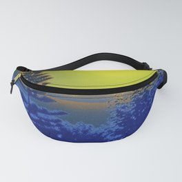 Surreal Sky Norfolk Pine and Trees Fanny Pack