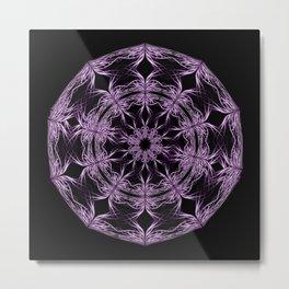 Mandala purple and black Metal Print