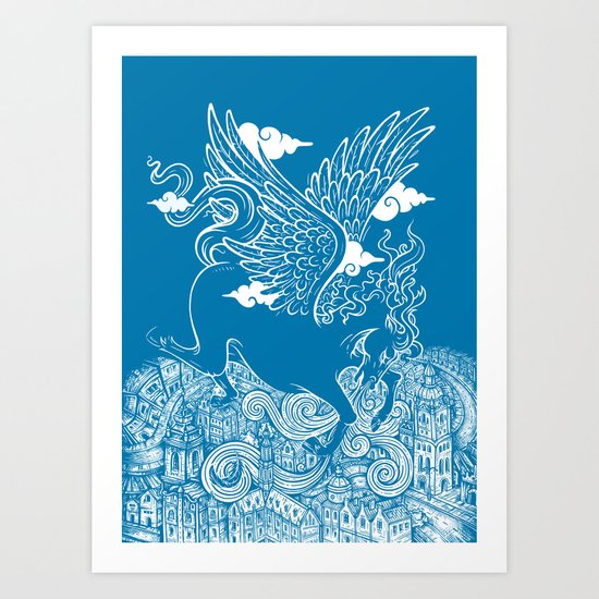 The Last Day of Pegasus Art Print
