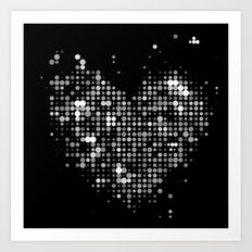 Heart2 Black Art Print