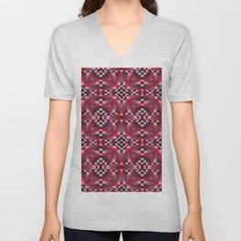 Indian Blanket Cherry Unisex V-Neck
