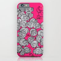 Elephants Never Forget to Party - PINK iPhone 6s Slim Case