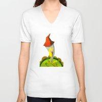 rapunzel V-neck T-shirts featuring Rapunzel by parisian samurai studio