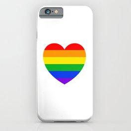 Rainbow Heart iPhone Case