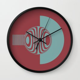 Experimentation with vector design on sphere glass reflection, 3D ambient. Version A. Wall Clock