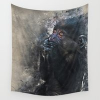 gorilla Wall Tapestries featuring Gorilla by jbjart