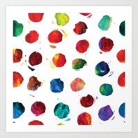 Abstract watercolor circles Art Print