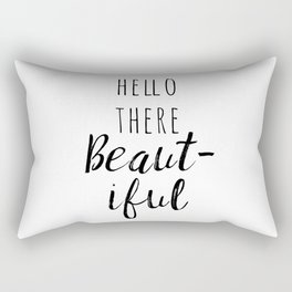Hello There Beautiful Rectangular Pillow