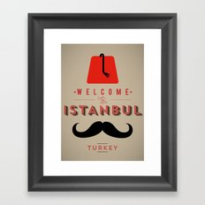 Vintage Welcome to Istanbul Poster Framed Art Print