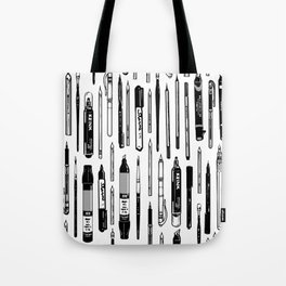 Pent Up Creativity (BW) Tote Bag
