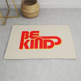BE KIND - bright typography Rug