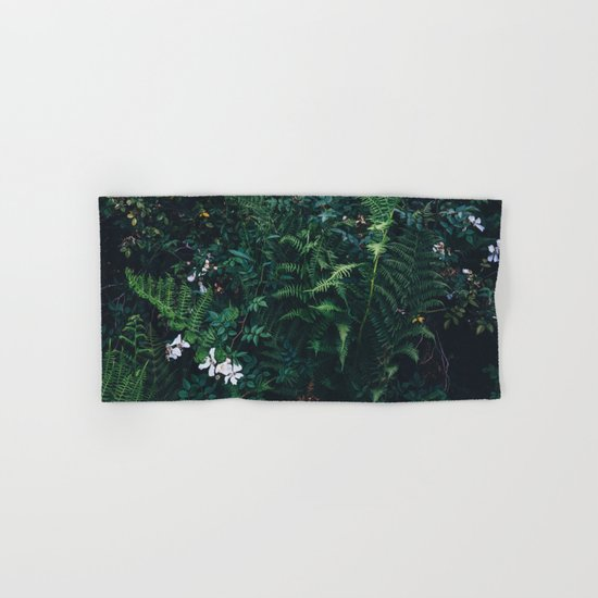 Fleurs Vertes Hand & Bath Towel