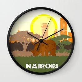 Nairobi National Park Kenya Wall Clock
