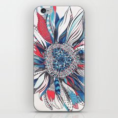 Flower Patterns on White iPhone & iPod Skin