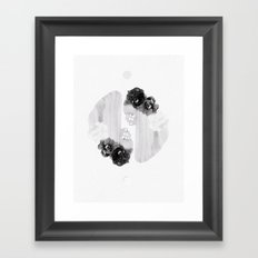 selene and eos (black and white) Framed Art Print