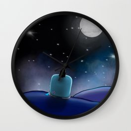 Wondrous & Whimsical Places: Zig and the Moon Wall Clock