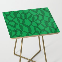 Overlapping Leaves - Dark Green Side Table