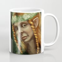 the hobbit Mugs featuring Hobbit Girl by Georgia Goddard