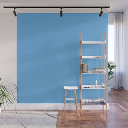 grid on blue Wall Mural