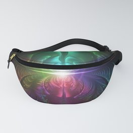 Anodized Rainbow Eyes and Metallic Fractal Flares Fanny Pack