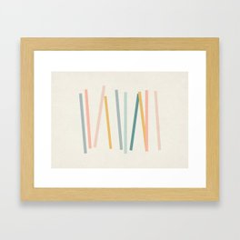Sticks Framed Art Print