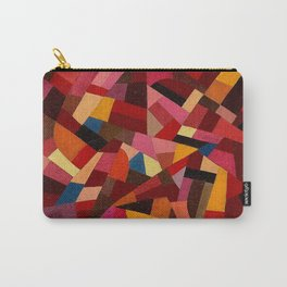 Komposition 1940 Mid Century Modern Abstract Geometric Colorful Pattern Painting Otto Freundlich Carry-All Pouch