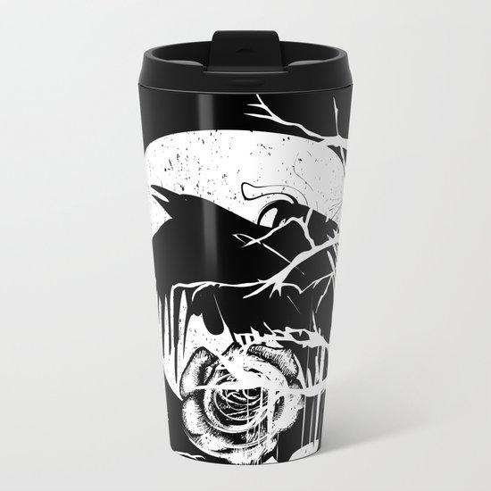 Raven and Rose Metal Travel Mug