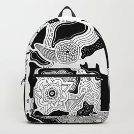 Inky Ghost Cats II Backpack