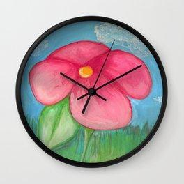 Big Pink Bloom Wall Clock