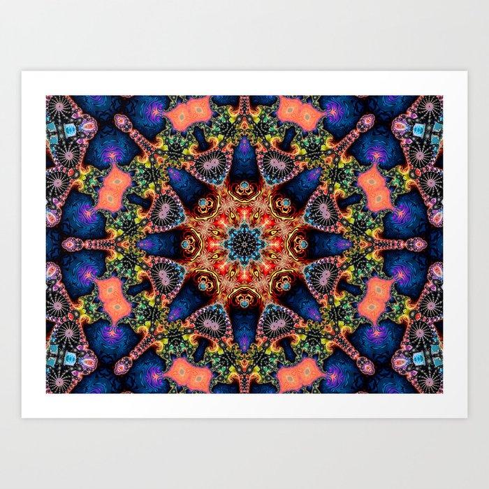 BBQSHOES: Kaleidoscopic Fractal Digital Art Design 1702K Art Print