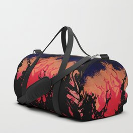 Red, Orange and Black Halloween Night; Fluid Abstract 5 Duffle Bag