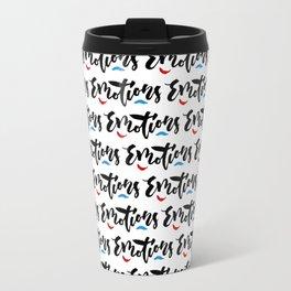 Emotions - Hand Lettering Design Travel Mug