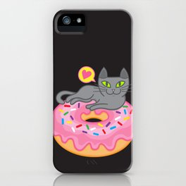 My cat loves donuts 2 iPhone Case