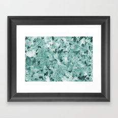 Real Marble Texture - Irish Green Sea Marble Framed Art Print