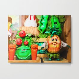 Mr. Pineapple and Friends - Singing Fruit and Veggies Metal Print