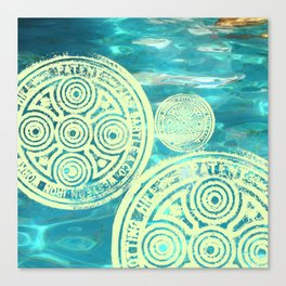 swimmingly three Canvas Print