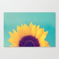 sunflower Canvas Prints featuring Sunflower by Debbie Wibowo