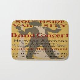Vintage poster - Southside Varsity Band Concert Bath Mat