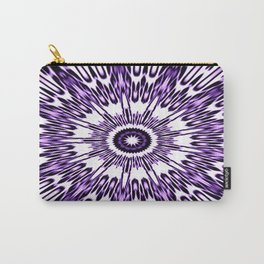 Purple White Black Explosion Carry-All Pouch