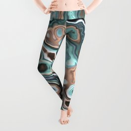 Fractal Marble 4 Leggings