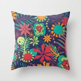 Flower Fiesta Throw Pillow