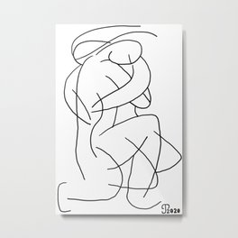 The Embrace Hello Metal Print