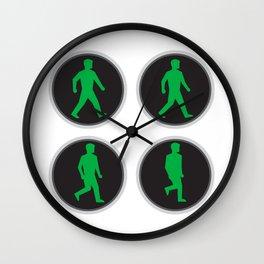 Traffic Light Man Walk Cycle Sequence Wall Clock