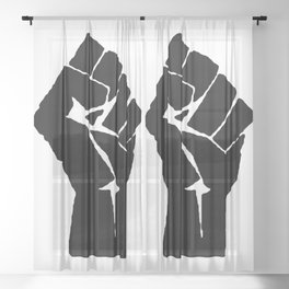 BLM Fist Sheer Curtain