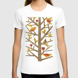 birds and wine T-shirt